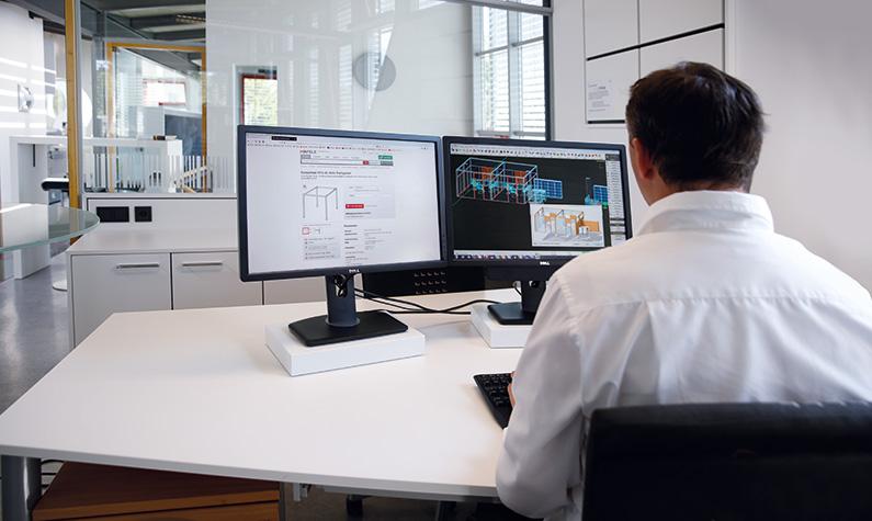 Planung und Konstruktion mit 3D-CAD-CAM.